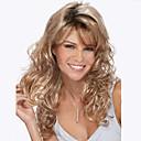 billige Syntetiske parykker uten hette-Syntetiske parykker Dame Blond Blond Parykk Lang Jordebær Blond