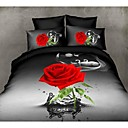 cheap 3D Duvet Covers-Duvet Cover Sets 3D Polyester Reactive Print 4 Piece / 200