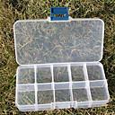 hesapli Depolama ve Düzenleme-10 yuvaları ayarlanabilir dikdörtgen konteyner plastik depolama takı boncuk kutusu