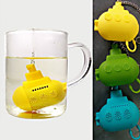 cheap Coffee and Tea-Cute Submarine Tea Infuser Silicone Herbal Tea Strainer Filter