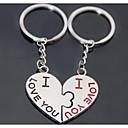 beso corazón romántica boda llavero llavero para el día de la amante de San Valentín (un par)