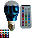 abordables Bombillas LED-RGB lm E26/E27 Bombillas LED de Globo A80 3PCS leds LED de Alta Potencia Regulable Decorativa Control Remoto RGB AC 85-265V