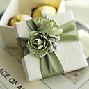 olcso Köszönetajándék tartók-Kocka alakú/köb Kártyapapír Favor Holder val vel Virág Ajándék dobozok Ajándékdobozok - 6