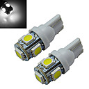 preiswerte LED Glühbirnen-70-90 lm T10 Lichtdekoration 5 Leds SMD 5050 Kühles Weiß DC 12V