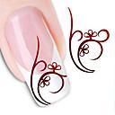 abordables Calcomanías de Agua para Manicura-1 pcs Calcomanías de Uñas 3D Etiqueta engomada de la transferencia arte de uñas Manicura pedicura Flor / Abstracto / Moda Diario / Pegatinas de uñas 3D