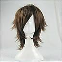billige Kostymeparykk-Syntetiske parykker Rett Syntetisk hår Brun Parykk Dame Kort Brun hairjoy