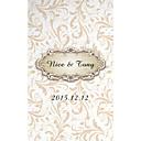 preiswerte Platzkarten & Kartenhalter-Hochzeits-Einladungen Glatte Karte Personalisiert