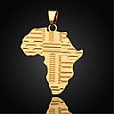 preiswerte Modische Halsketten-Herrn Figaro Kette Anhängerketten / Anhänger - vergoldet Landkarten Modische Halsketten Für Alltag, Normal, Sport