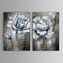 billige Abstrakte malerier-Hang malte oljemaleri Håndmalte - Abstrakt Blomstret / Botanisk Klassisk Inkluder indre ramme