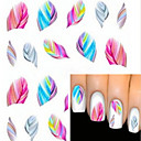 cheap Nail Stickers-water transfer printing nail stickers 1724