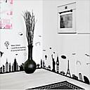 billige Veggklistremerker-Dekorative Mur Klistermærker - Ord og sitater Wall Stickers Landskap / Still Life / Romantik Stue / Soverom / Kjøkken