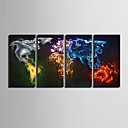 cheap Prints-E-HOME® Stretched Canvas Art Color Map Decoration Painting  Set of 4