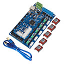 cheap 3D Printer Parts & Accessories-KEYES 3D Printer Control Board MKS Gen V1.2, USB Line (With A4988 With Fins)