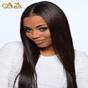 cheap Human Hair Wigs-8 26 indian virgin hair straight glueless lace wig lace front wig color 2 with baby hair for black women