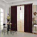 זול וילונות חלון-מדינה curtains® וילון ההאפלה מוצקה יין פנל אחד