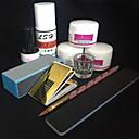 رخيصةأون مجموعات الأظافر-مجموعة الاكريليك مضاعف فن الأظافر تجميل الأظافر والقدمين بسيط يوميا