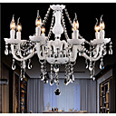 رخيصةأون إضاءات الأسقف-putian 8-الضوء على غرار شمعة نجفات ضوء محيط - كريستال, 110-120V / 220-240V, أبيض دافئ / أبيض, لا يشمل لمبات / 20-30㎡ / E12 / E14