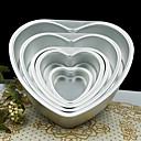 رخيصةأون أجهزة بروجيكتور-5 بوصة معدنية الحب قلب شكل كعكة العفن انفصال يعيش أسفل المعجنات العفن