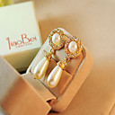 cheap Wedding Shoes-Women's Drop Earrings - Imitation Pearl, Rhinestone Drop European Gold / Cream For