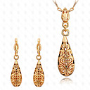 cheap Earrings-Hollow Out Jewelry Set - 18K Gold Plated Drop Vintage, Party, Work Include Gold For Party / Special Occasion / Anniversary / Earrings / Necklace