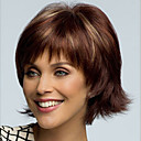 cheap Synthetic Wigs-Synthetic Wig Straight Asymmetrical Haircut Synthetic Hair Natural Hairline Brown Wig Women's Short Capless
