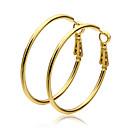 abordables Pendientes-Mujer Pendients de aro - Chapado en Oro damas Joyas Dorado Para