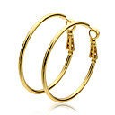 cheap Earrings-Women's Hoop Earrings - Gold Plated Ladies Jewelry Gold For