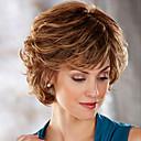 hesapli Sentetik Peruklar-Sentetik Peruklar Düz / Vücut Dalgası Asimetrik Saç Kesimi Sentetik Saç Doğal saç çizgisi Açık Kahverengi / Kahverengi Peruk Kadın's Şort Bonesiz