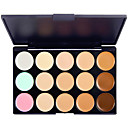 cheap Earrings-15 Colors Powders Concealer / Contour 1 pcs Dry / Combination / Oily Concealer Face China Makeup Cosmetic