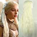 preiswerte Backformen-Synthetische Perücken Glatt Blond Synthetische Haare Blond Perücke Kappenlos