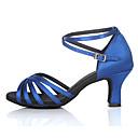 baratos Sandálias Femininas-Mulheres Sapatos de Dança Latina / Sapatos de Salsa Cetim / Seda Salto Alto / Sandália Presilha Salto Personalizado Personalizável