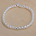 cheap Bracelets-Chain Bracelet - Sterling Silver, Silver Plated Classic Bracelet For Christmas Gifts Wedding Party