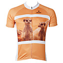 ieftine Pantaloni Cycling Scurți-ILPALADINO Bărbați Manșon scurt Jerseu Cycling - Portocaliu Animal Bicicletă Jerseu, Uscare rapidă, Rezistent la Ultraviolete Poliester