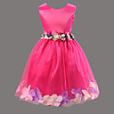tanie Sukienki dla dziewczynek-Dla dziewczynek Kwiatowy Kwiaty Bez rękawów Sukienka
