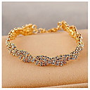 cheap Earrings-Women's Clear - Chain Bracelet Gold / Silver For Wedding Party Special Occasion / Anniversary / Engagement / Gift / Daily / Casual