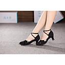 hesapli Latin Dans Ayakkabıları-Kadın's Modern Dans Ayakkabıları Sentetik / Kumaş Yüksek Topuklular Toka / Kürk Küba Topuk Kişiselletirilmemiş Dans Ayakkabıları