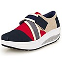 cheap Women's Athletic Shoes-Women's Shoes Canvas Spring / Summer / Fall Crib Shoes Platform / Wedge Heel Magic Tape Red / Blue