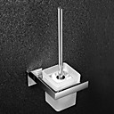cheap Toilet Brush Holder-Toilet Brush Holder Contemporary Stainless Steel / Glass 1 pc - Hotel bath