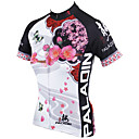 cheap Cycling Jersey & Shorts / Pants Sets-ILPALADINO Women's Short Sleeve Cycling Jersey - White Floral / Botanical Bike Jersey, Quick Dry, Ultraviolet Resistant, Breathable