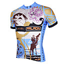 baratos Conjuntos de Bijuteria-ILPALADINO Homens Manga Curta Camisa para Ciclismo - Cinzento Moto Camisa / Roupas Para Esporte, Secagem Rápida, Resistente Raios