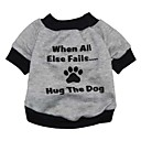 preiswerte Kostümperücke-Katze Hund Pullover Hundekleidung Buchstabe & Nummer Grau Terylen Kostüm Für Haustiere Herrn Damen Niedlich Modisch
