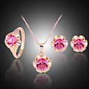 cheap Jewelry Sets-Women's Jewelry Set Jewelry Set - Zircon, Cubic Zirconia, Imitation Diamond Fuchsia