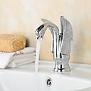 halpa Kylpyhuoneen lavuaarihanat-Kylpyhuone Sink hana - Pyörivä Kromi Integroitu Yksi reikä / Yksi kahva yksi reikä