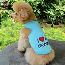 cheap Dog Clothes-Cat Dog Shirt / T-Shirt Dog Clothes Heart Letter & Number Orange Gray Blue Pink Cotton Costume For Pets Cosplay Wedding