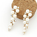 cheap Earrings-Women's Pearl Drop Earrings - Pearl, Imitation Pearl, Rhinestone Fashion White For Daily / Imitation Diamond