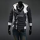 Hombre Tallas Grandes La chaqueta con capucha Diario Deportes Casual Un Color Con Capucha Rígido Algodón Poliéster Mangas largas Invierno