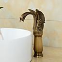 povoljno Slavine za umivaonik-Kupaonica Sudoper pipa - Okretljive slavine Starinski Bakar Središnje pozicionirane One Hole / Jedan Ručka jedna rupa