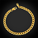 cheap Keychains-Women's Curb Chain Bracelet Bracelet - Stainless Steel, Gold Plated Fashion Bracelet For Wedding Party Special Occasion