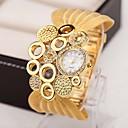 billige Smykke Sett-Dame Halskjede klokke Quartz Mangefarget 30 m Imitasjon Diamant Analog damer Sjarm Vintage Mote Elegant - Sølv Gylden Brun-Gull