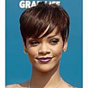 olcso Sapka nélküli-Röviden emberi haj feldolgozatlan híresség stílusát szűz Remy Brazil haj géppel készült tanksapka nélküli teljes csipke paróka